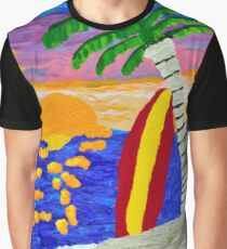 Surfer Sunset Graphic T-Shirt