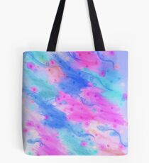 SEEING STARS 1 - Light Blue Pretty Starry Sky Abstract Watercolor Painting Lovely Feminine Pattern Tote Bag