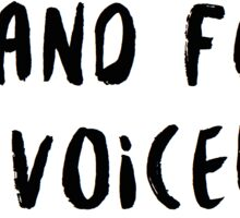 i stand for the voiceless Sticker
