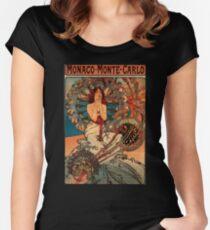 'Monaco' von Alphonse Mucha (Reproduktion) Tailliertes Rundhals-Shirt
