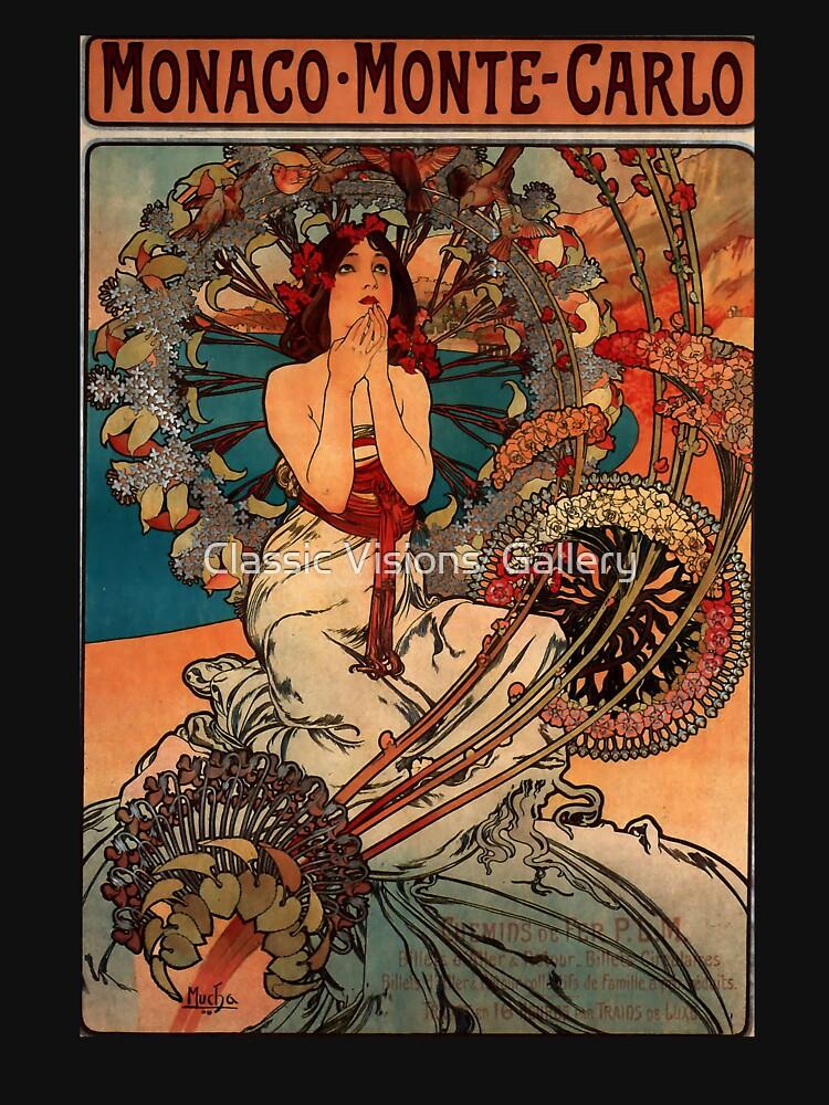 'Monaco' by Alphonse Mucha (Reproduction) by RozAbellera
