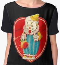 Vintage Valentine evil clown Chiffon Top