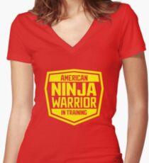 American Ninja Warrior - Yellow Women's Fitted V-Neck T-Shirt