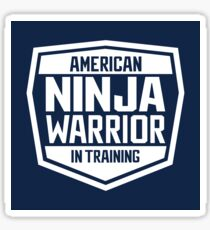 American Ninja Warrior - White Sticker