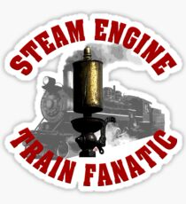 Steam Engine Train Fanatic Sticker