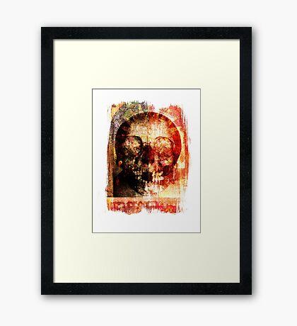 floral skully Framed Print