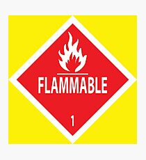 Flammable Photographic Print