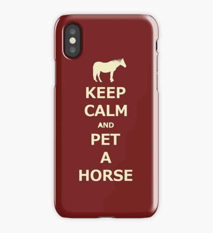 Keep Calm and Pet A Horse iPhone and iPod Cases iPhone Case