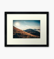 Mountains in the background XXIII Framed Print