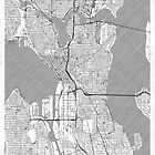 Seattle Map Line by HubertRoguski