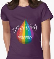 #LoveWins - Remembering Orlando Womens Fitted T-Shirt