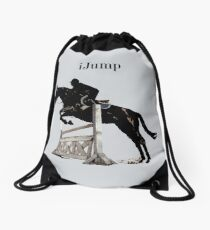 Cute iJump Equestrian Horse T-Shirt and Hoodies Drawstring Bag