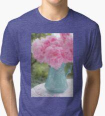 Pitcher of Peonies Tri-blend T-Shirt