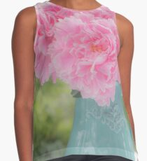Pitcher of Peonies Contrast Tank