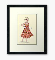 50's Girl Framed Print