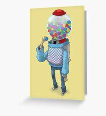 Bubblegum Machine Greeting Card