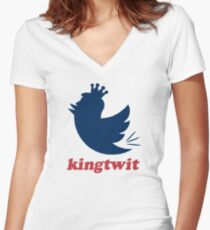 kingtwit Women's Fitted V-Neck T-Shirt