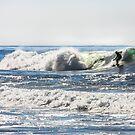 Glistening Waves Surfer  by Heather Friedman
