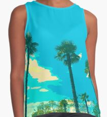 Palm trees lined up Contrast Tank