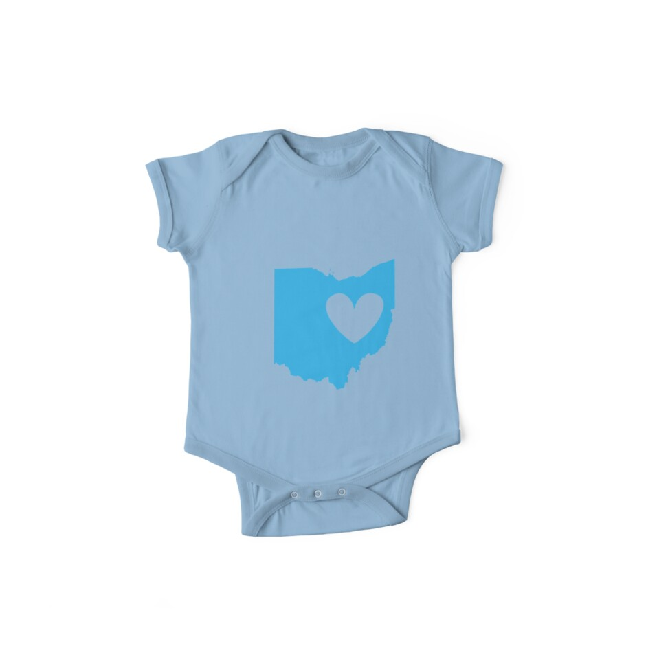 Ohio is Where the Heart is (Blue) by Ariel James