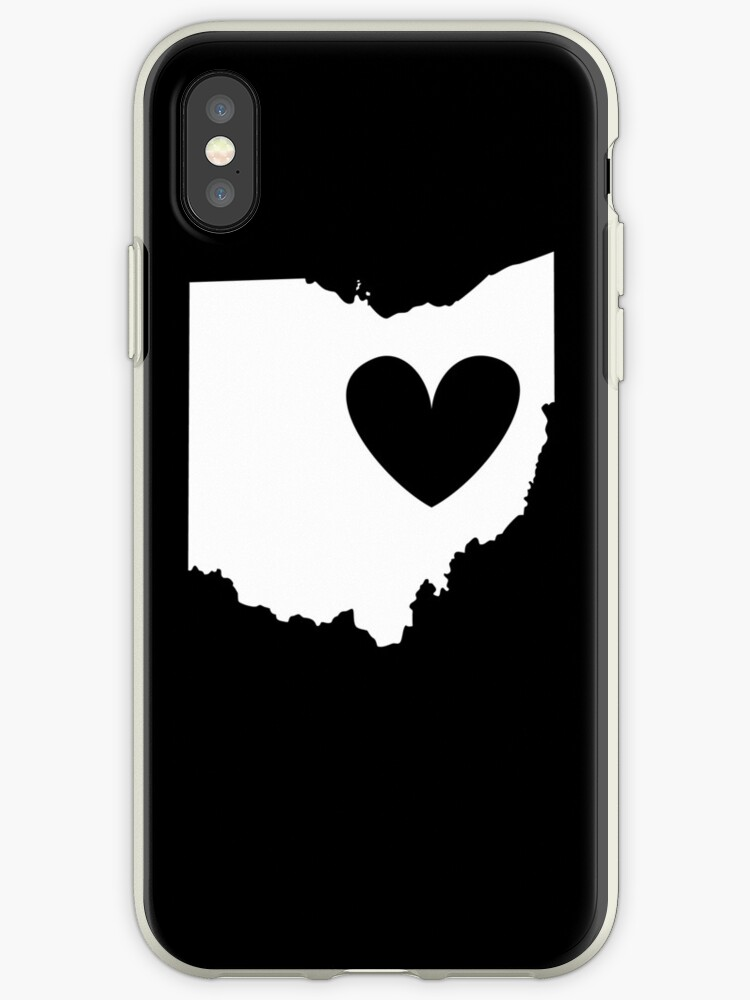 Ohio is Where the Heart is (White) by Ariel James