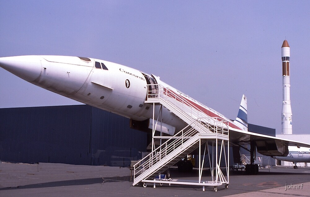 Concorde grounded. France.  by johnrf