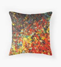 END OF THE RAINBOW - Bold Multicolor Abstract BC Colorful Nature Inspired Sunrise Sunset Ocean Beach Theme Throw Pillow