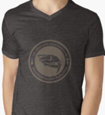 The Society of Palaeontology Fanciers (Brown on White) Mens V-Neck T-Shirt