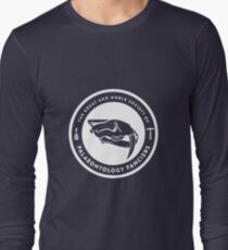 The Society of Palaeontology Fanciers (White on Dark) Long Sleeve T-Shirt