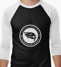The Society of Palaeontology Fanciers (White on Dark) Men's Baseball ¾ T-Shirt