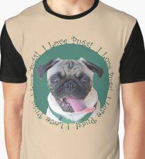 Cute I Love Pugs! T-Shirt or Hoodie Graphic T-Shirt