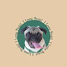 Cute I Love Pugs! T-Shirt or Hoodie by Patricia Barmatz