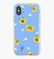 Summer Sunflower Pattern iPhone Case