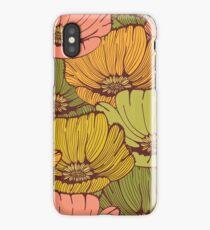 Vintage poppy flowers iPhone Case