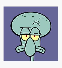 Squidward Photographic Print