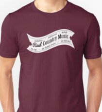 Real Country Music (white ink) T-Shirt