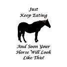 Horse Diet Encouragement  by Patricia Barmatz