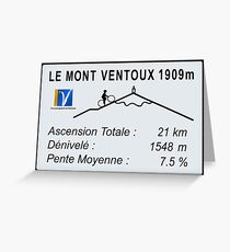 Mont Ventoux Cycling Greeting Card
