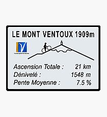Mont Ventoux Cycling Photographic Print