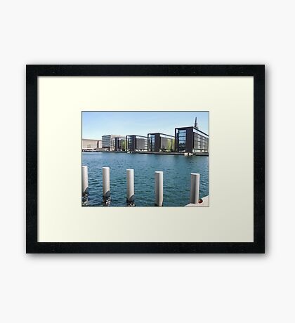 Counting: Reflections & Ripples Framed Print