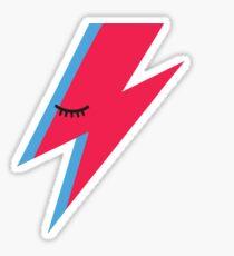 Aladdin Sane Lightning Bolt Sticker