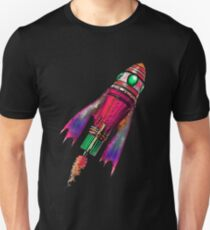 Retro Space Ship Two Unisex T-Shirt
