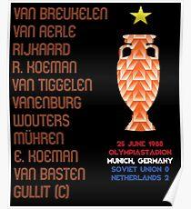 Netherlands 1988 Euro Winners Poster