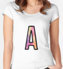 Letter A Women's Fitted Scoop T-Shirt