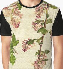 Ribes sanguineum botanical print Graphic T-Shirt