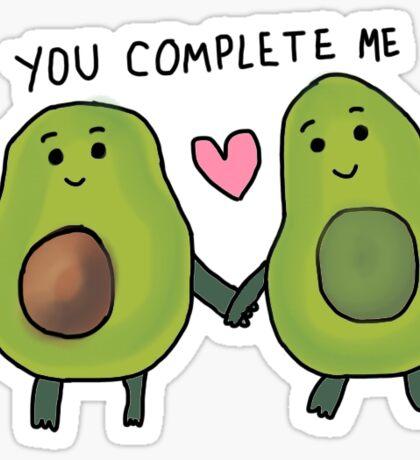 you complete me avocado Sticker