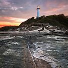 Norah heads lighthouse, sunset by damiankafe