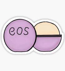 purple eos chapstick  Sticker
