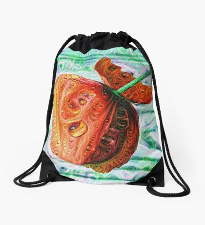 #DeepDreamed Flower 5x5K v1449147619 Drawstring Bag