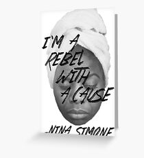 Rebel With a Cause - Face Greeting Card